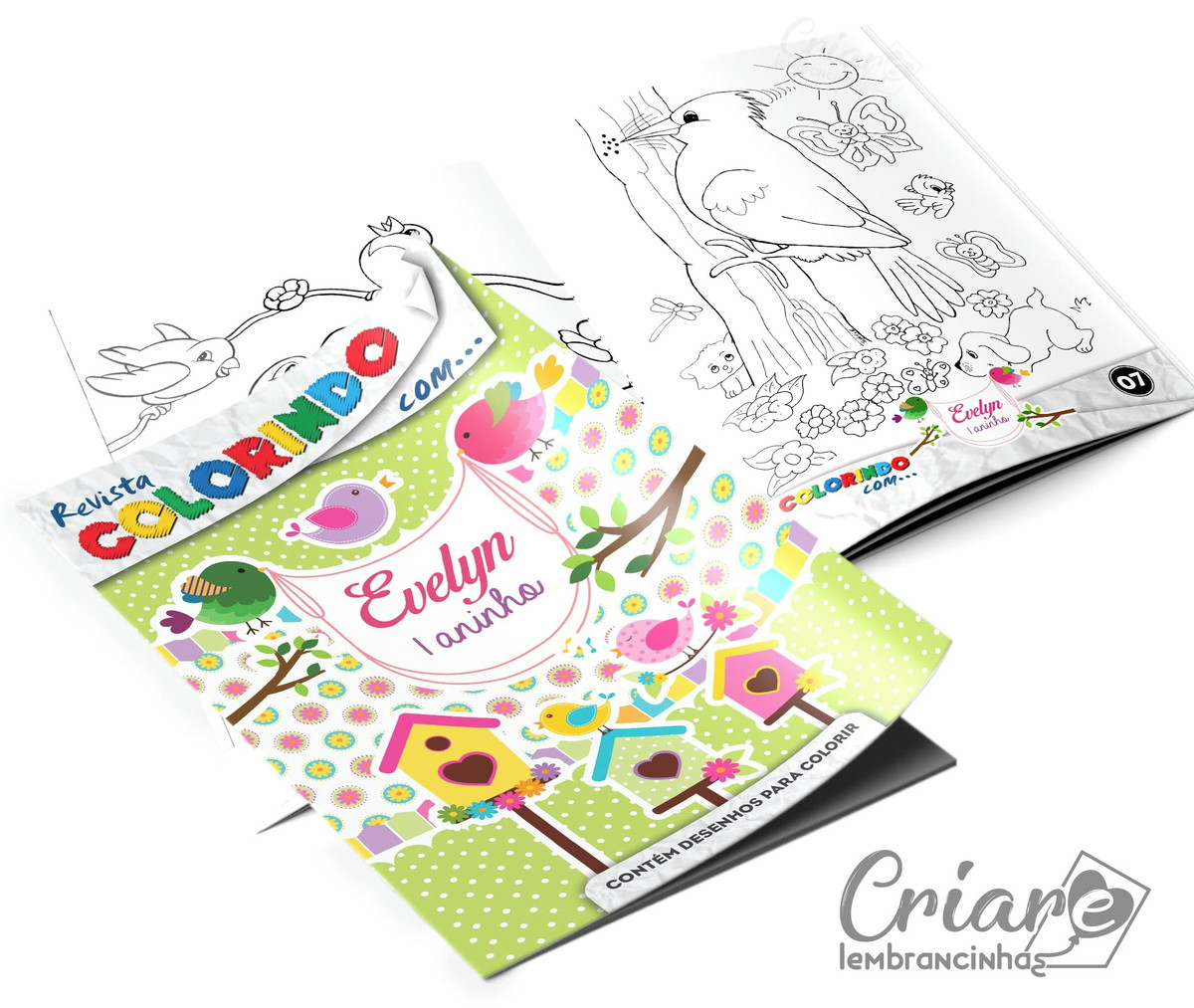 Revista Para Colorir Jardim Encantado No Elo7 Criare