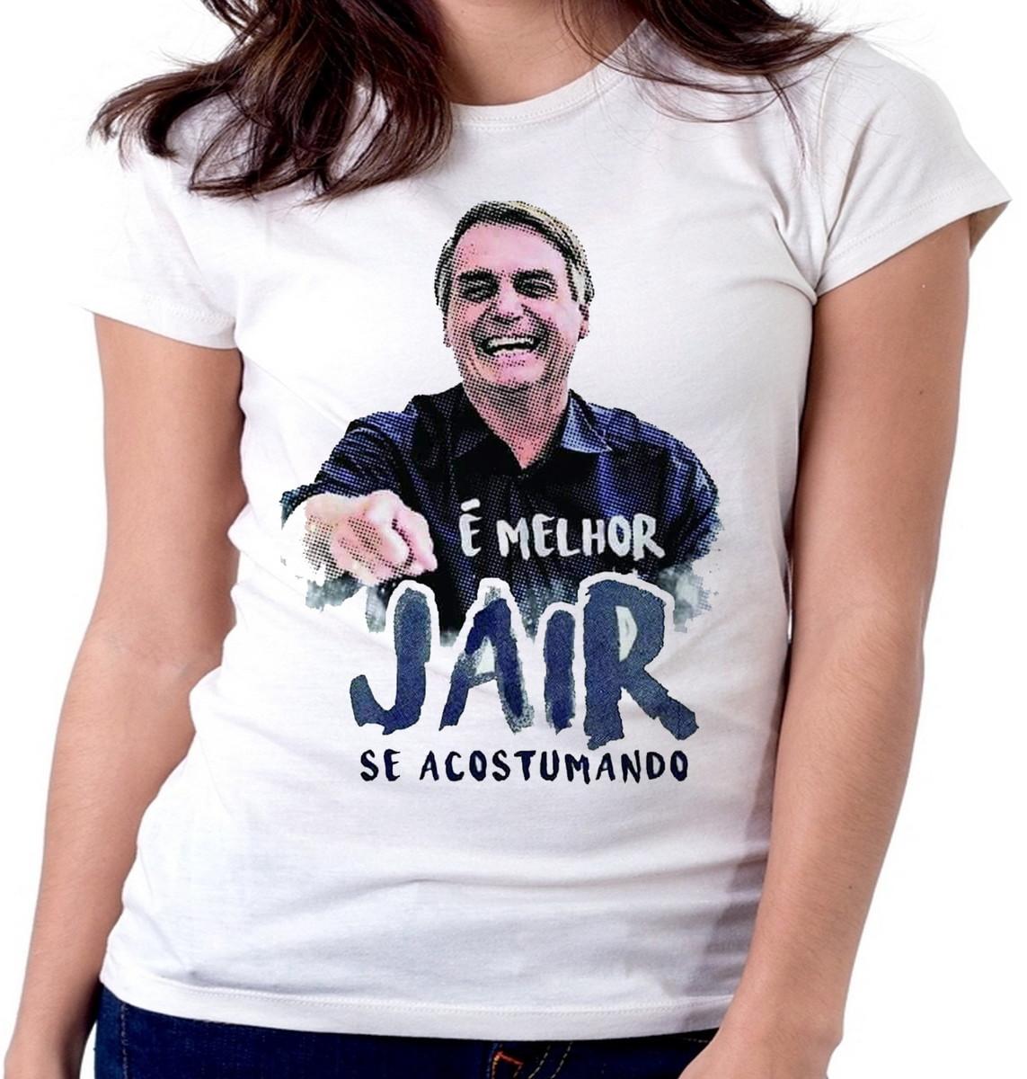 f8f28c3ed1 blusa feminina baby look Melhor Jair acostumando Bolsonaro no Elo7 ...