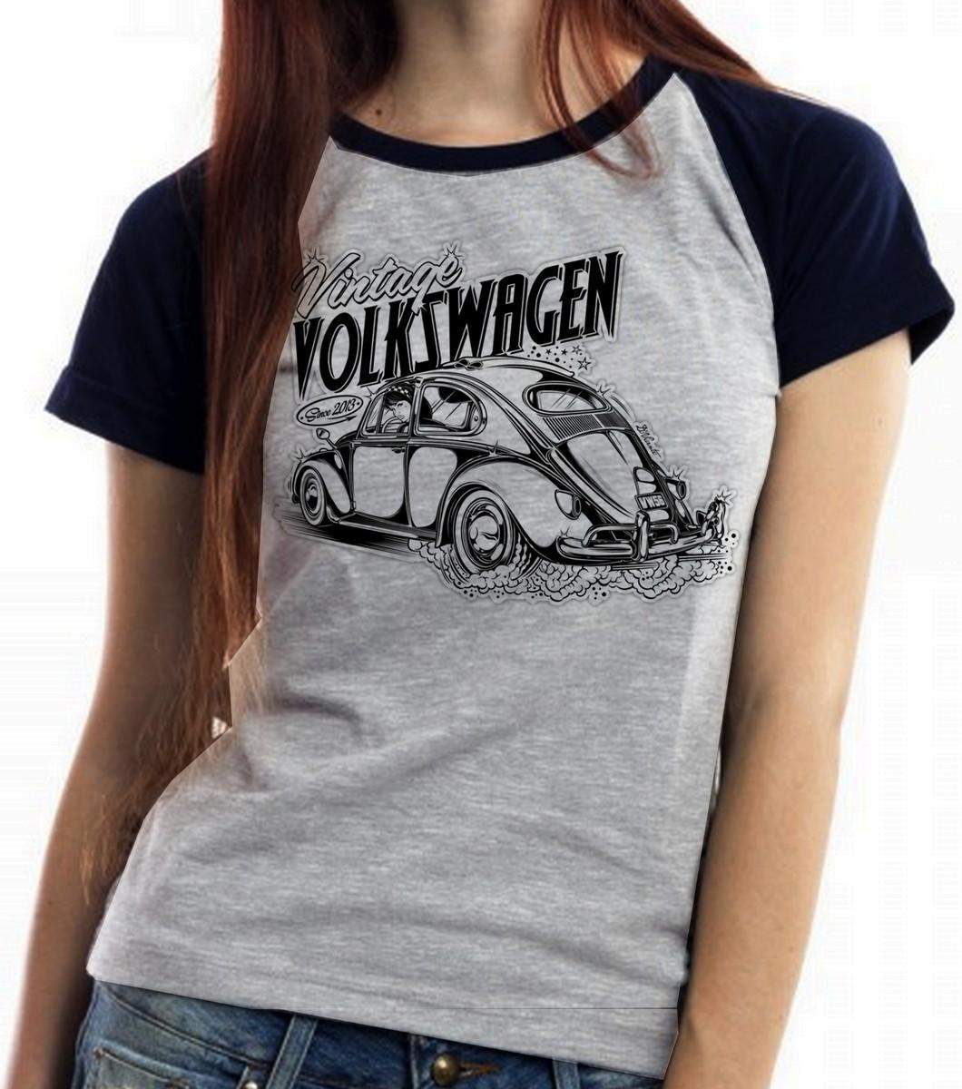 495e9891f4 blusa feminina baby look Fusca carro volkswagen vintage fuca no Elo7 ...