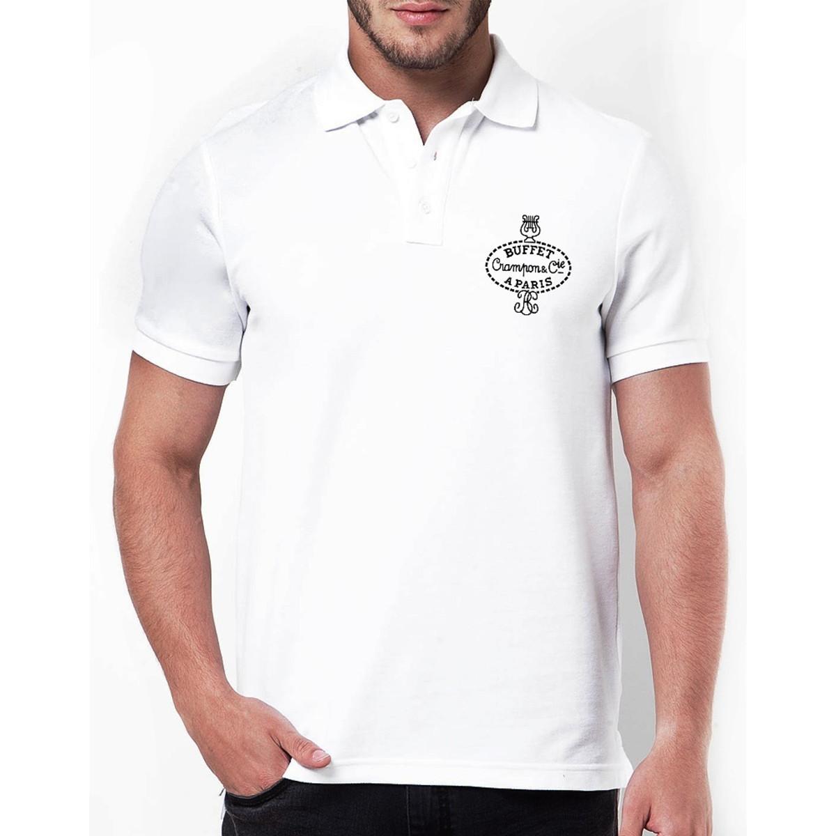 faa4e6dc8f546 Camisa Branca Polo no Elo7   TFT GUARDANAPOS ESPECIAIS (E33376)