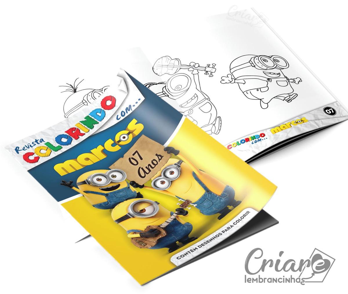 Revista Para Colorir Minions No Elo7 Criare Lembrancinhas