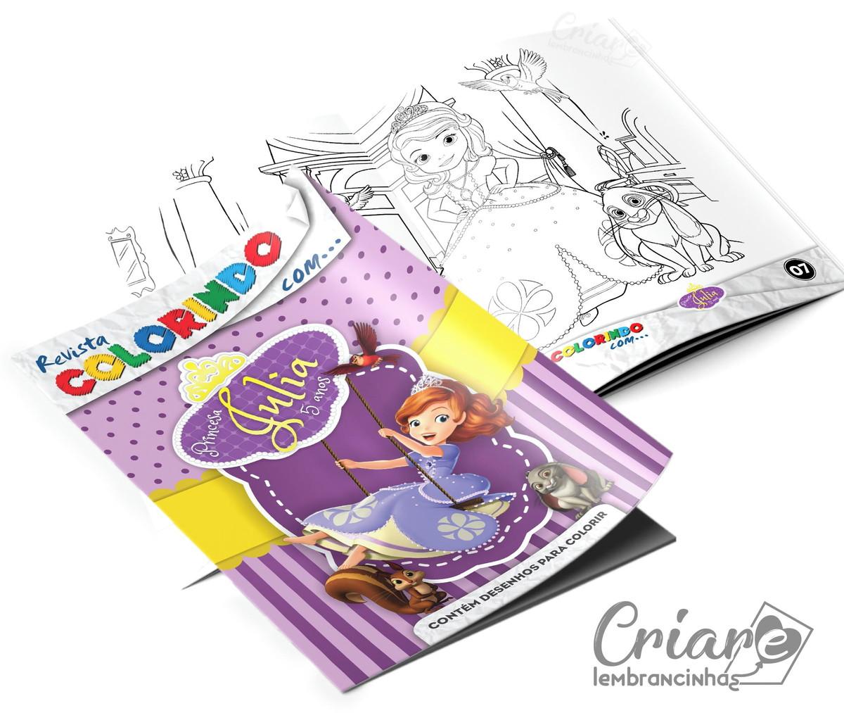 Revista Para Colorir Princesinha Sofia No Elo7 Criare