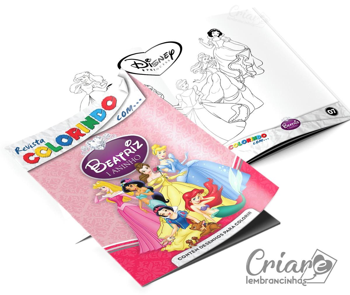 Revista Para Colorir Princesas Disney
