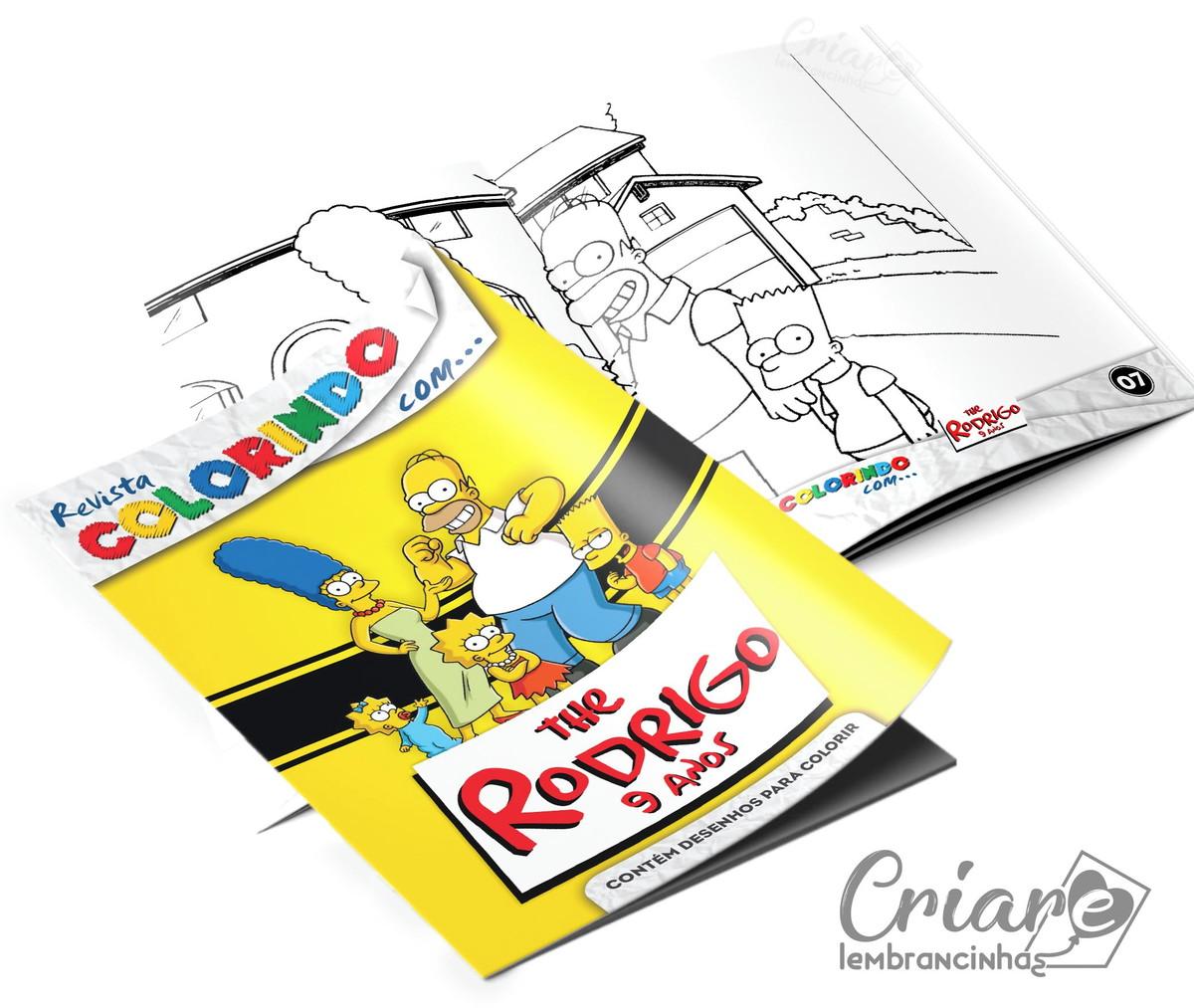 Revista Para Colorir Os Simpsons No Elo7 Criare