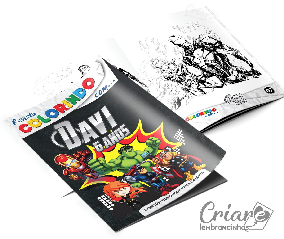 Revista Para Colorir Os Vingadores Kids No Elo7 Criare