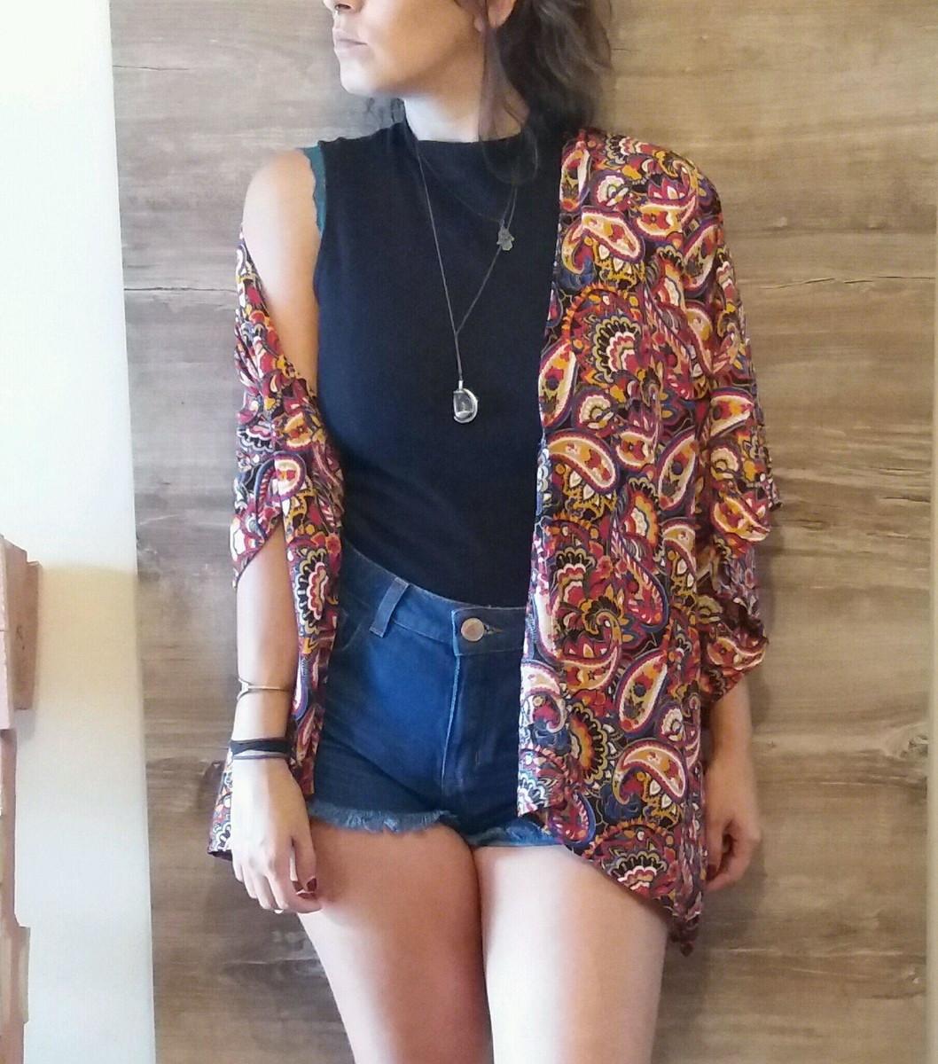 efad48e7b7 Kimono Feminino Indiano Verão 2019 no Elo7