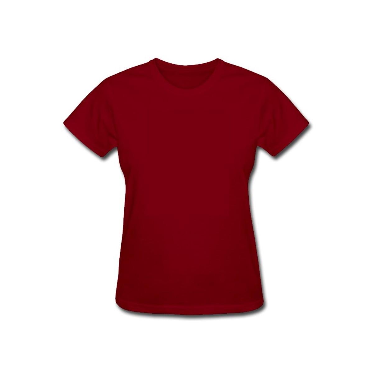 eef9fccea2624 Baby Look lisa Vinho - 100% algodão 30.1 no Elo7