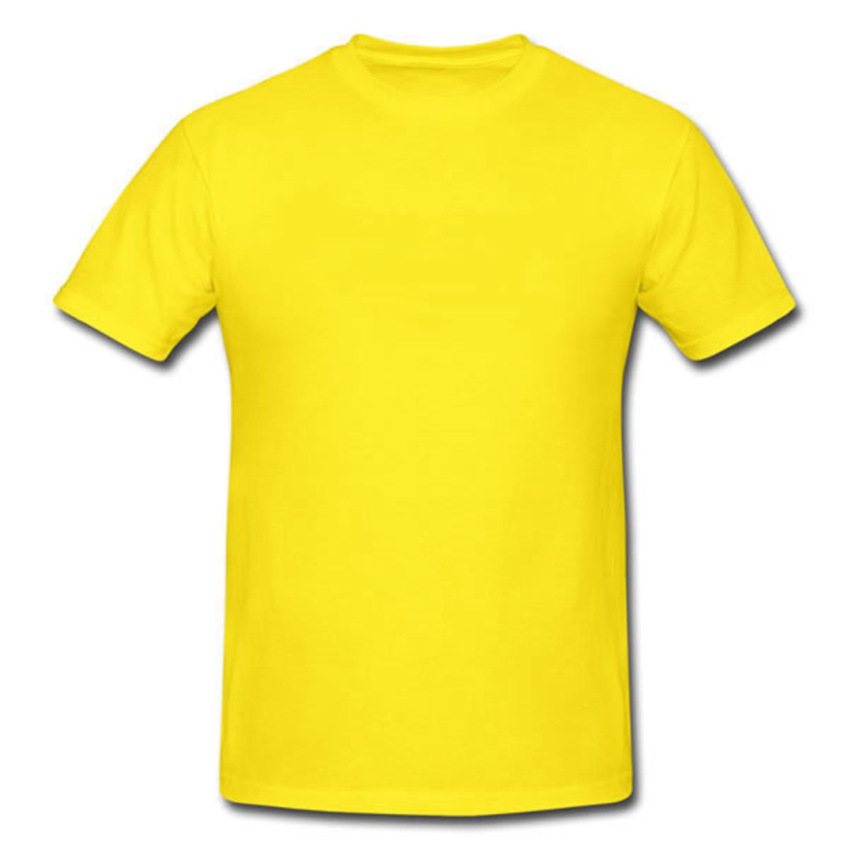a1c1c4b97 Camiseta lisa 100% algodão 30.1 - Amarela no Elo7