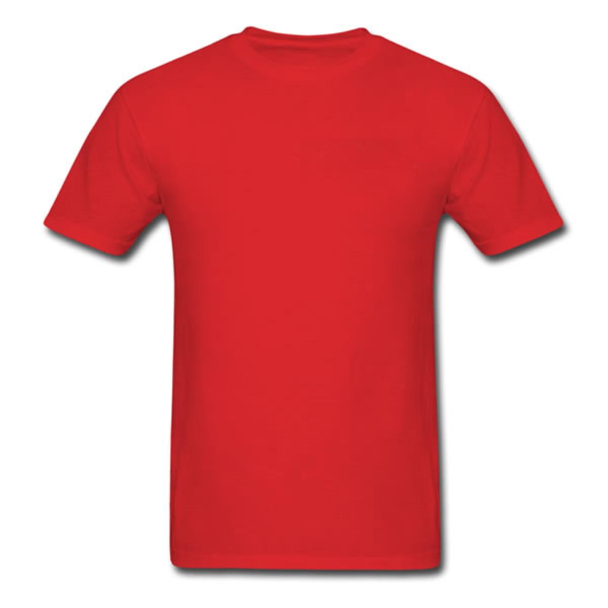 c9b7e76adff32 Camiseta lisa 100% algodão 30.1 - Vermelha no Elo7