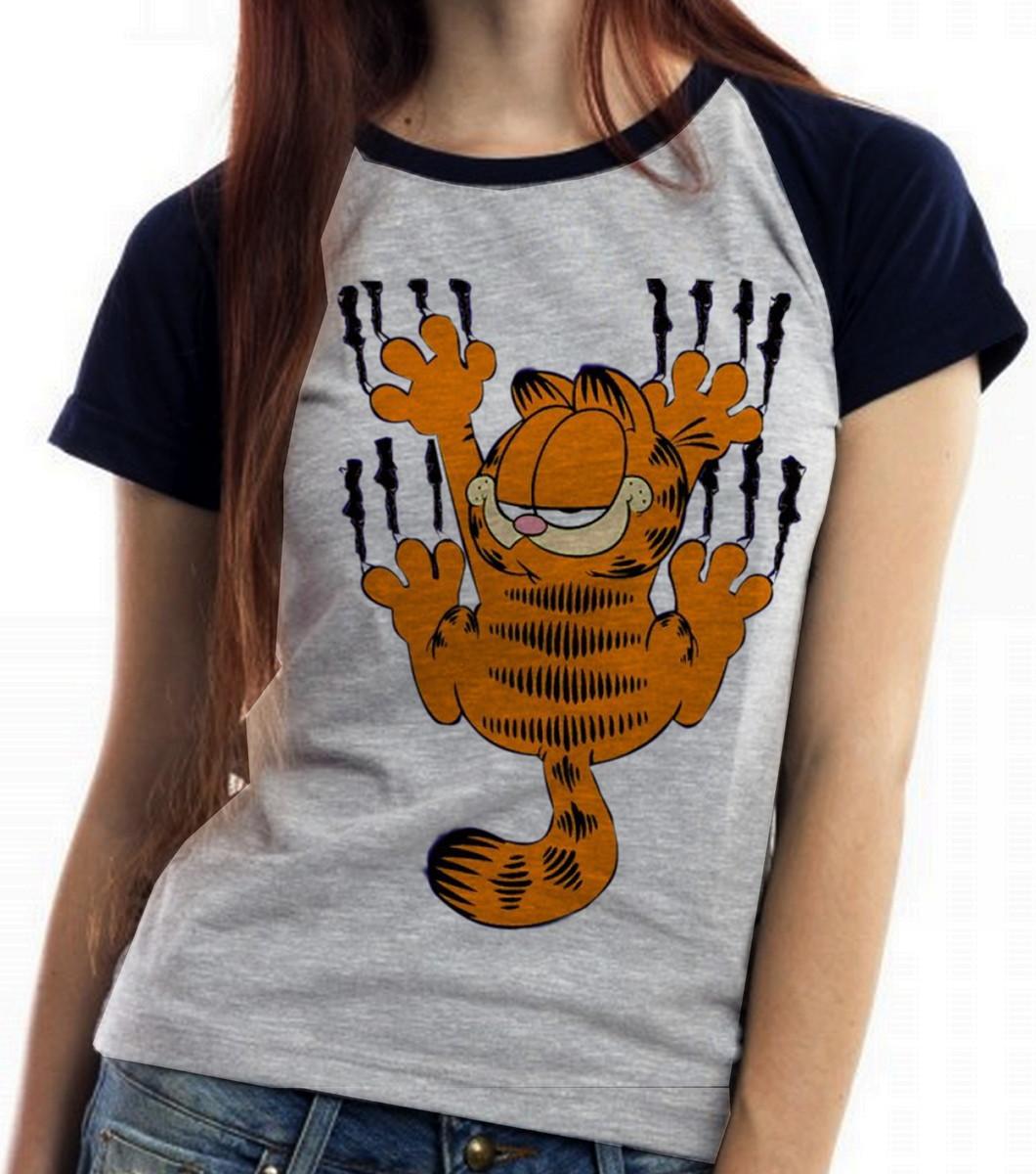 blusa feminina baby look Garfield arranhar gato cat gatinho no Elo7 ... 5327b632e67b4