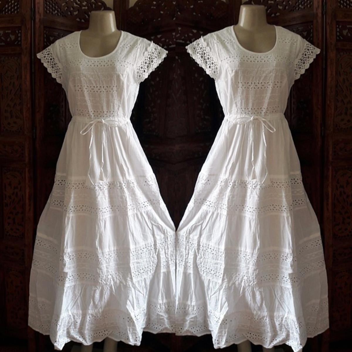e4bdbd1c2e56 vestido branco longo algodão laise renda grupir exg no Elo7 ...