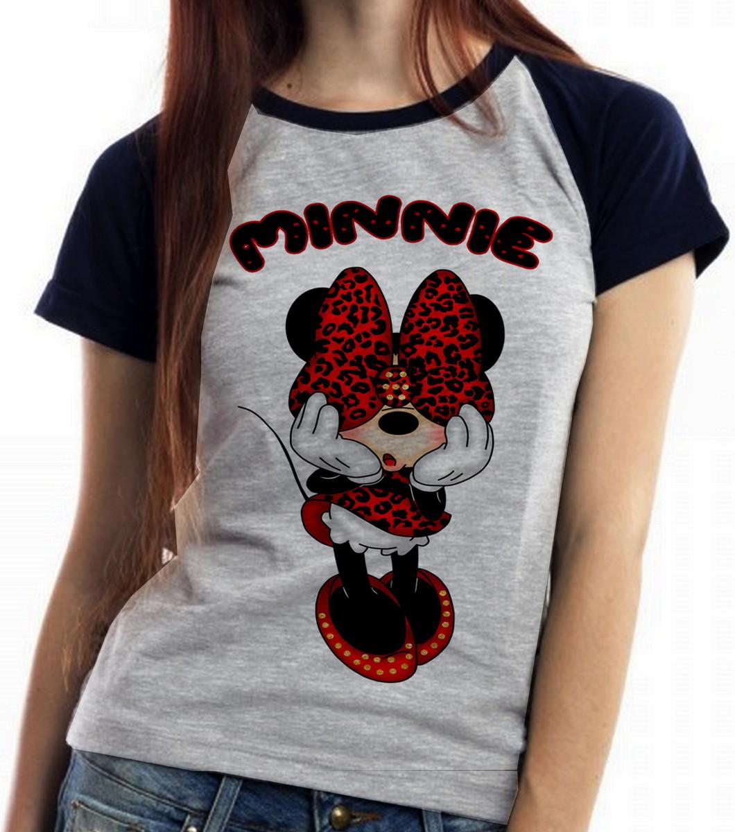 9e2da91d8c blusa feminina baby look Minnie mouse tope rmickey disney no Elo7 ...