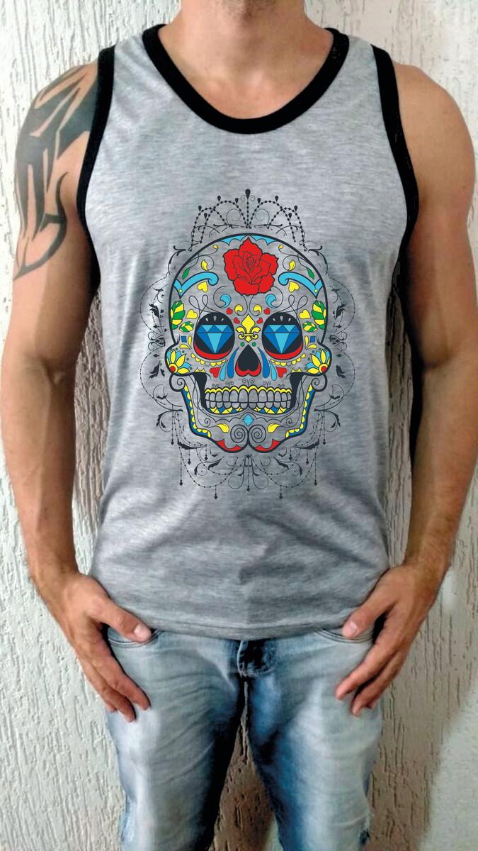 Camiseta Regata Caveira Mexicana no Elo7  7f3894fc60d