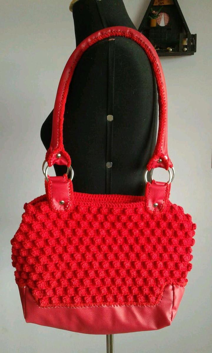 Bolsa D G Vermelha no Elo7   Gliu exclusividades artesanais (E37C0A) c6cf23764a