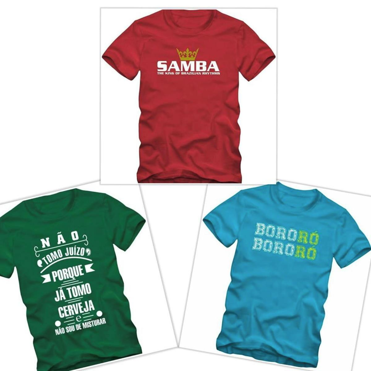 Kit 3 Camisetas Samba Plus Size Tamanhos Especiais no Elo7 ... 10168d0e0e5