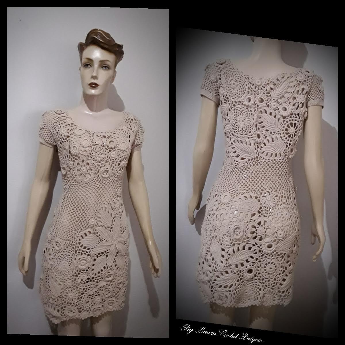 a62aec942675 Vestido Crochet Irlandês no Elo7   Ateliê Arte do Vale Paranaíba ...