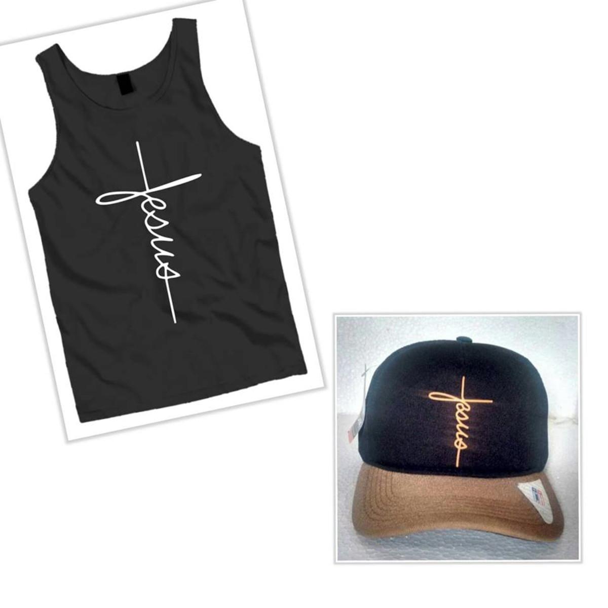 7bea88d115 Kit Camiseta Regata Jesus E Boné Jesus no Elo7