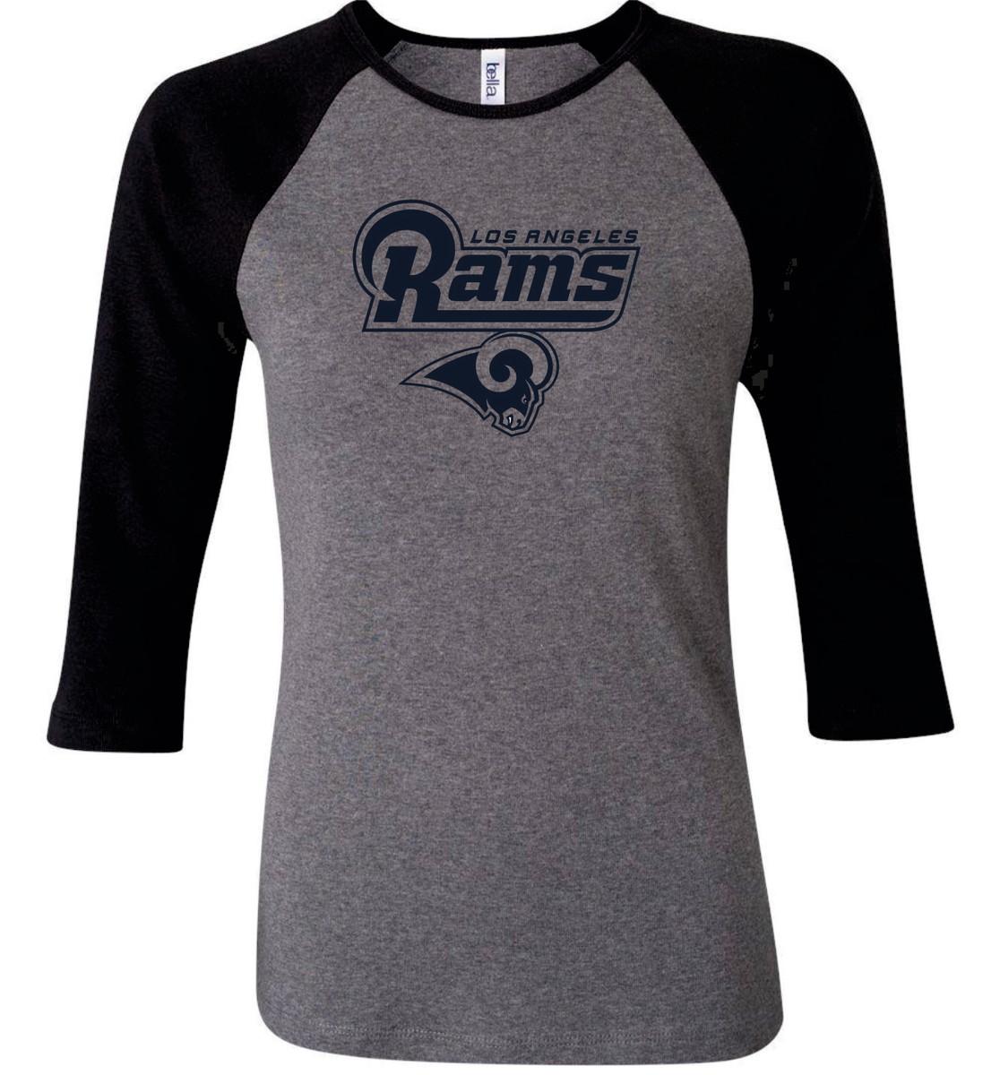 1df111a18 Camiseta Raglan 3 4 Los Angeles Rams Futebol Americano Nfl no Elo7 ...