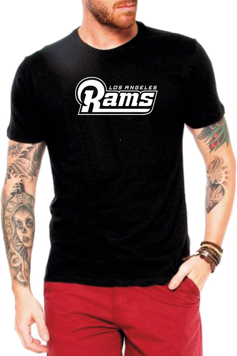 89057e0d7 Camiseta Preta Los Angeles Rams Futebol Americano no Elo7