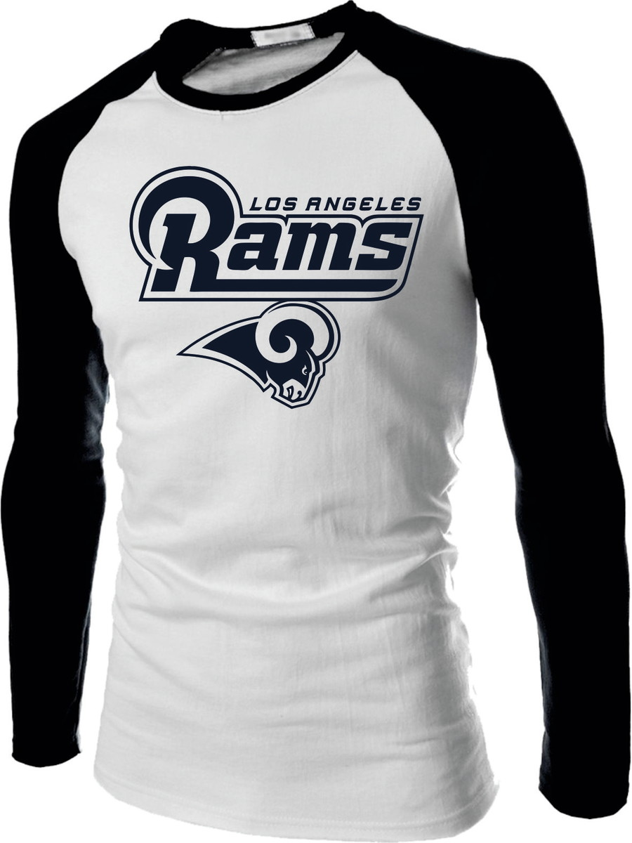 eeac6be16 Camiseta Raglan Longa Los Angeles Rams Futebol Americano Nfl no Elo7 ...