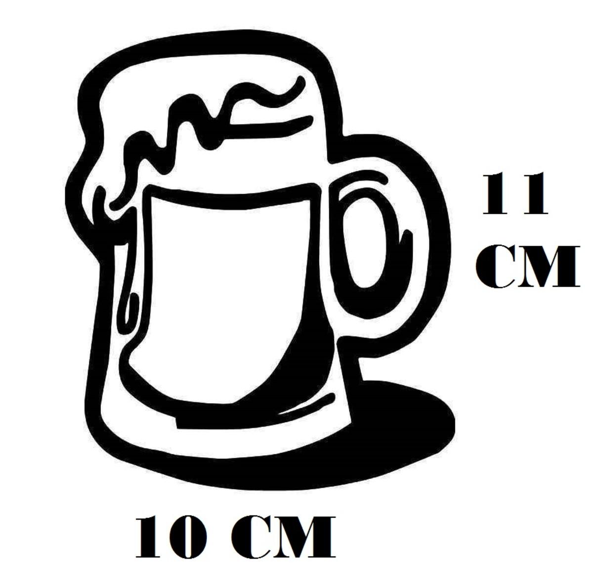Adesivo Caneca Chopp Oktober Cerveja Artesanal Frete Gratis No