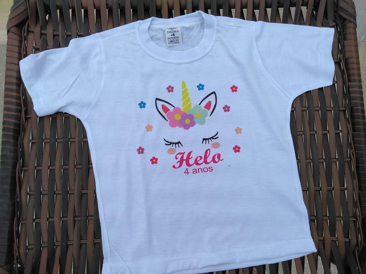 ea100747beb78 Kit 10 Camiseta Unicornio Personalizada no Elo7