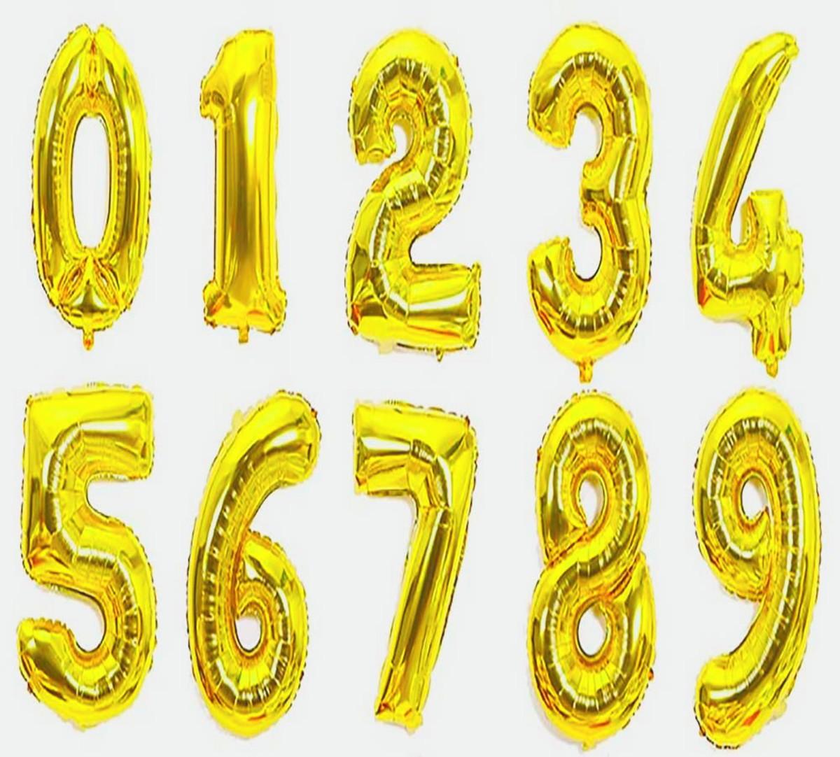 d0c8e9602 Balão Metalizado Kit 2 Números para festas 70cm no Elo7
