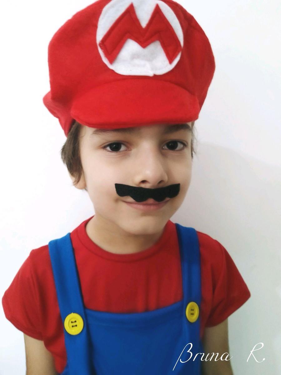 ee62a05425800 Kit boinas e camiseta Super Mario Bros e Luigi no Elo7