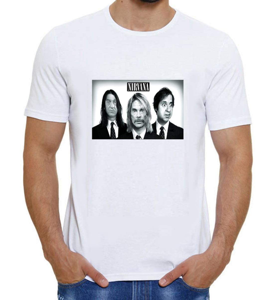 Camiseta Turma Do Chaves Meme Banda Nirvana Grunge no Elo7 ... 927c741475c