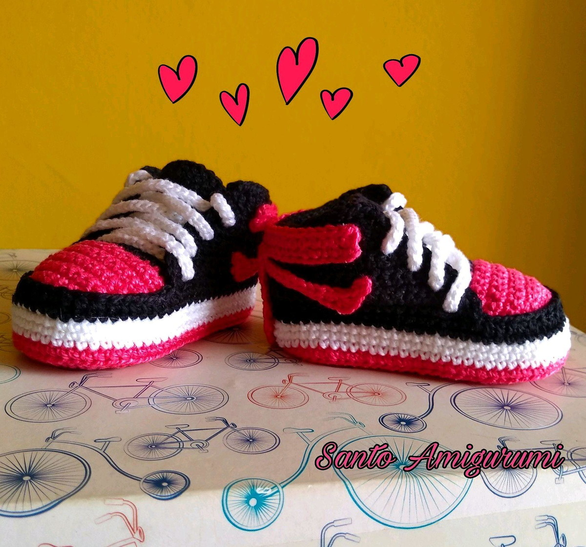 80229561070 Tênis Nike em croche para bebê no Elo7
