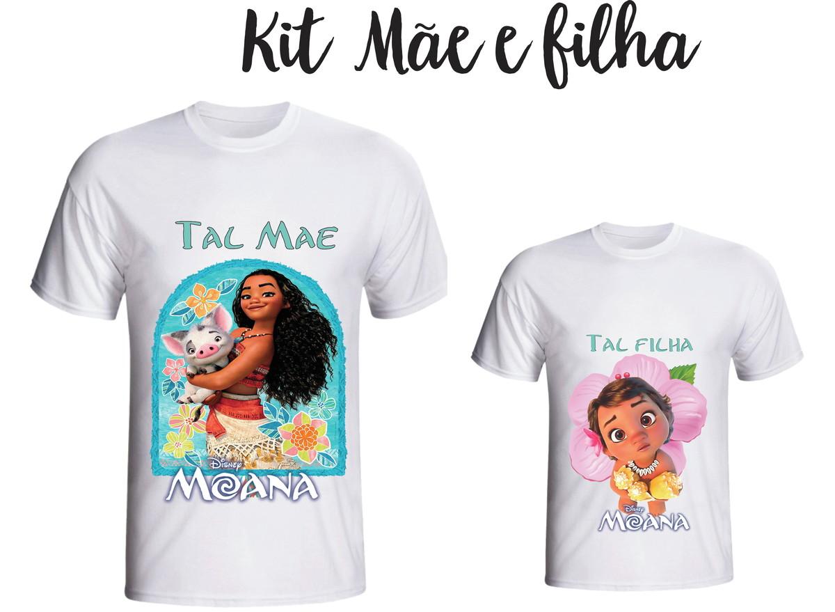 1f7601d77414ab Camiseta Moana - Tal Mãe tal Filha kit /02