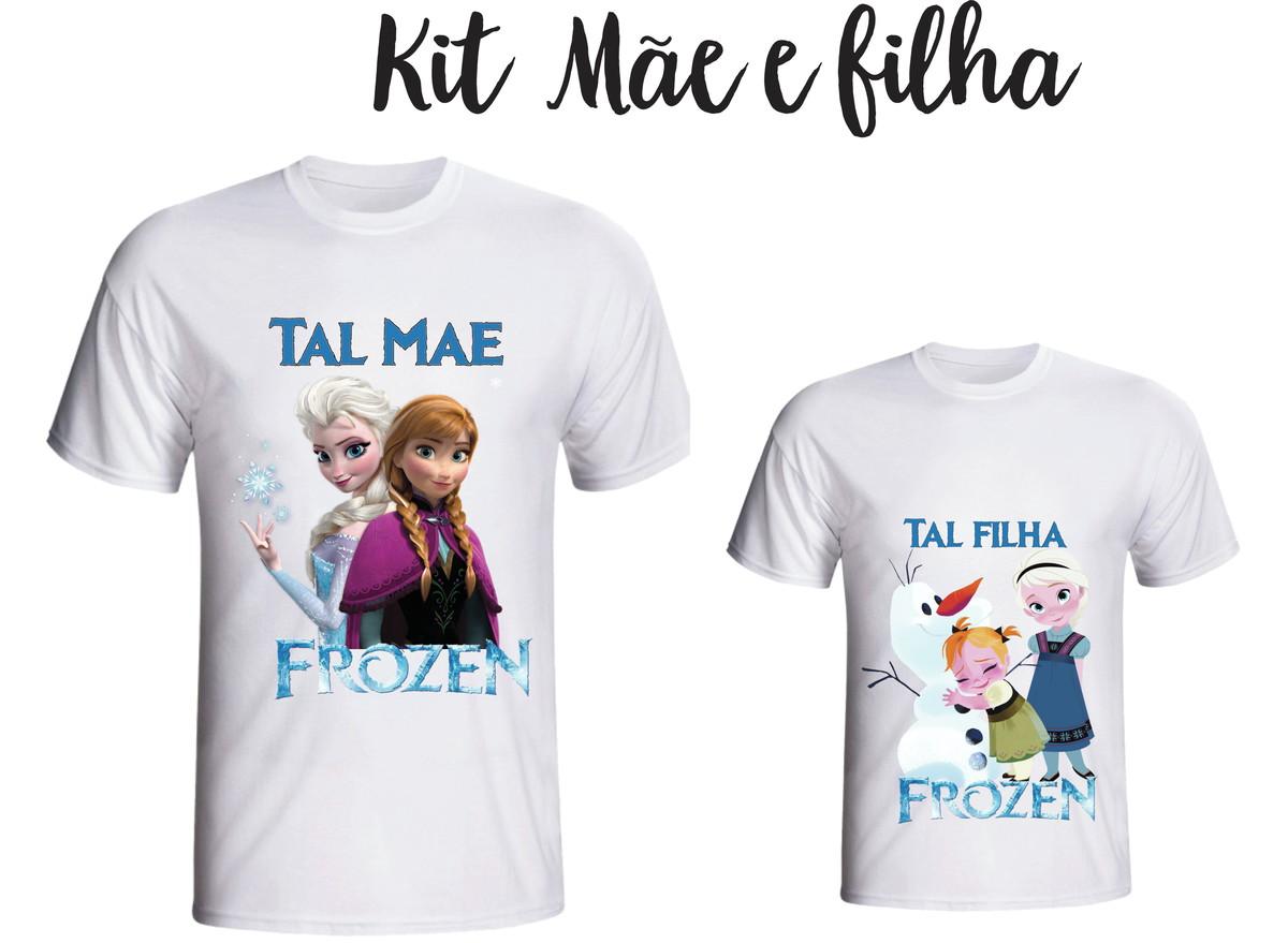 Camiseta Frozen - Tal Mãe tal Filha kit  02 no Elo7  633652f8d8961