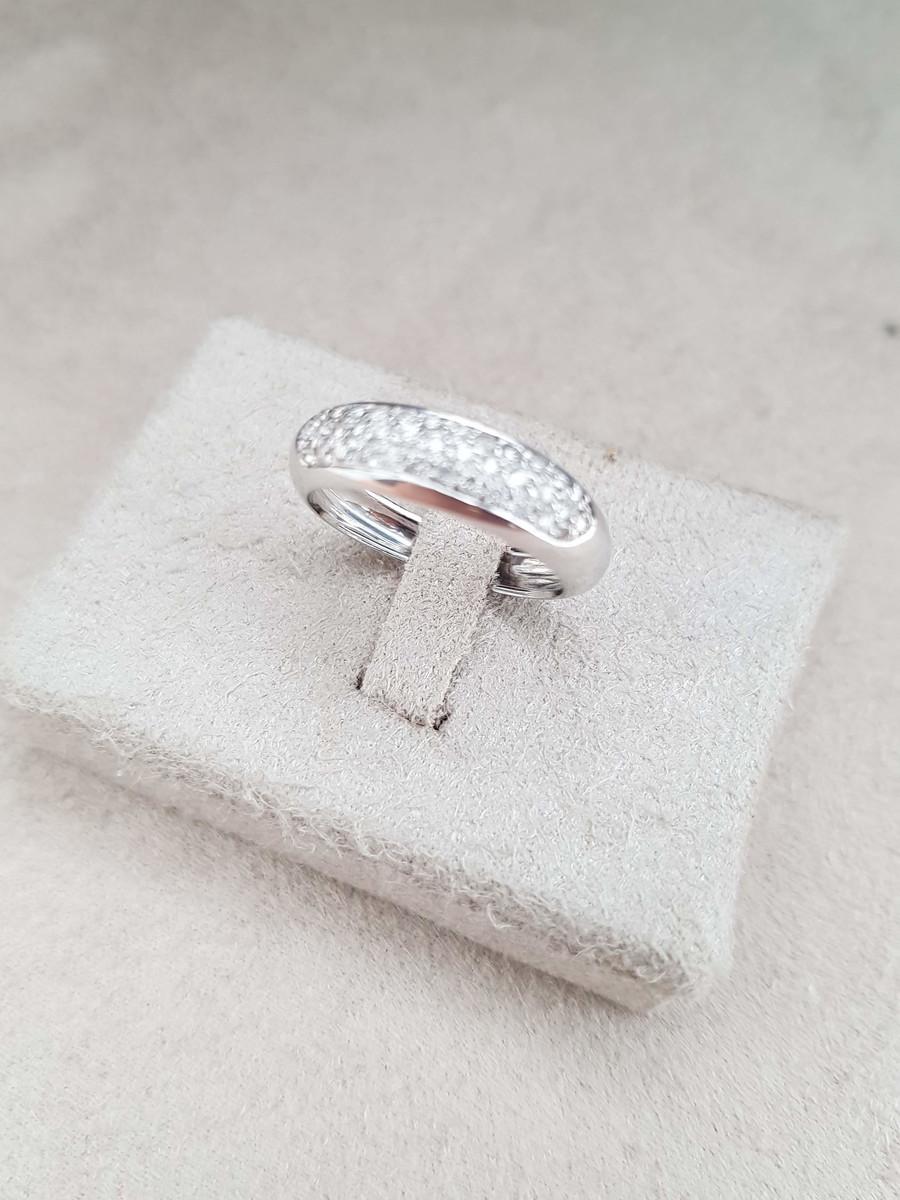Anel (Meia Aliança) de Ouro 18k com Diamantes no Elo7   Garimpo ... 1d182180d9