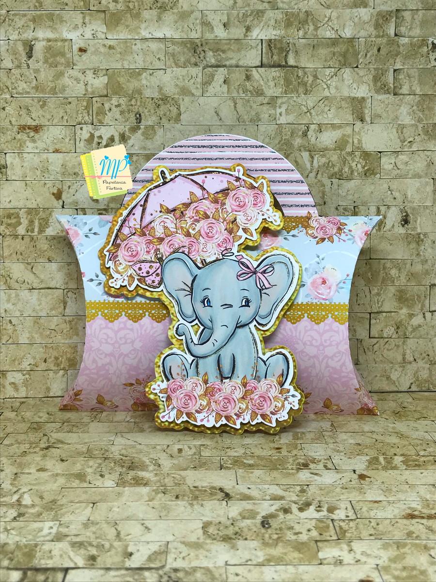 abbb9abb8 Caixa Almofada C  Alça Elefante Rosa no Elo7