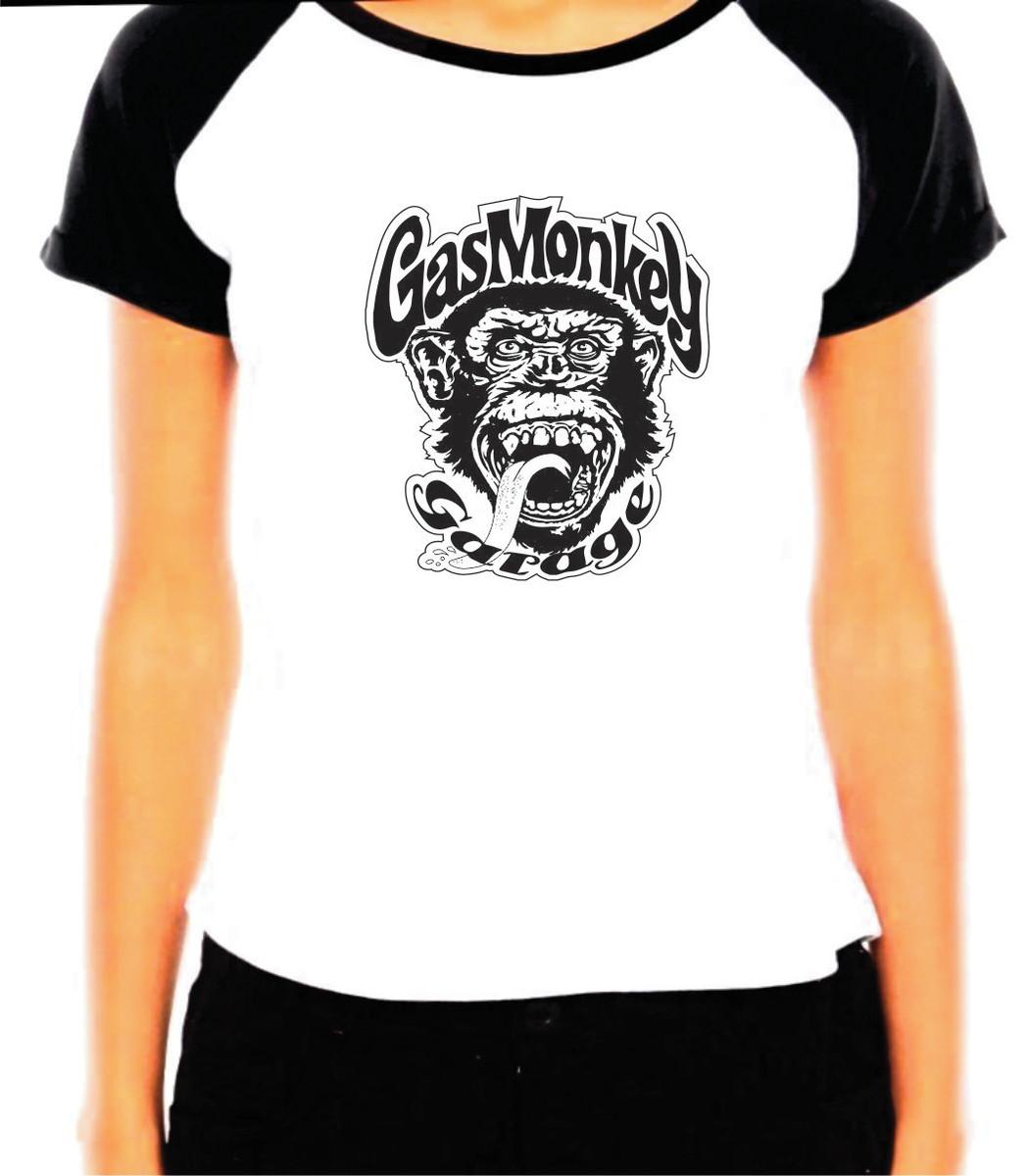 Camiseta Baby Look Gas Monkey no Elo7  7ae20dcabde