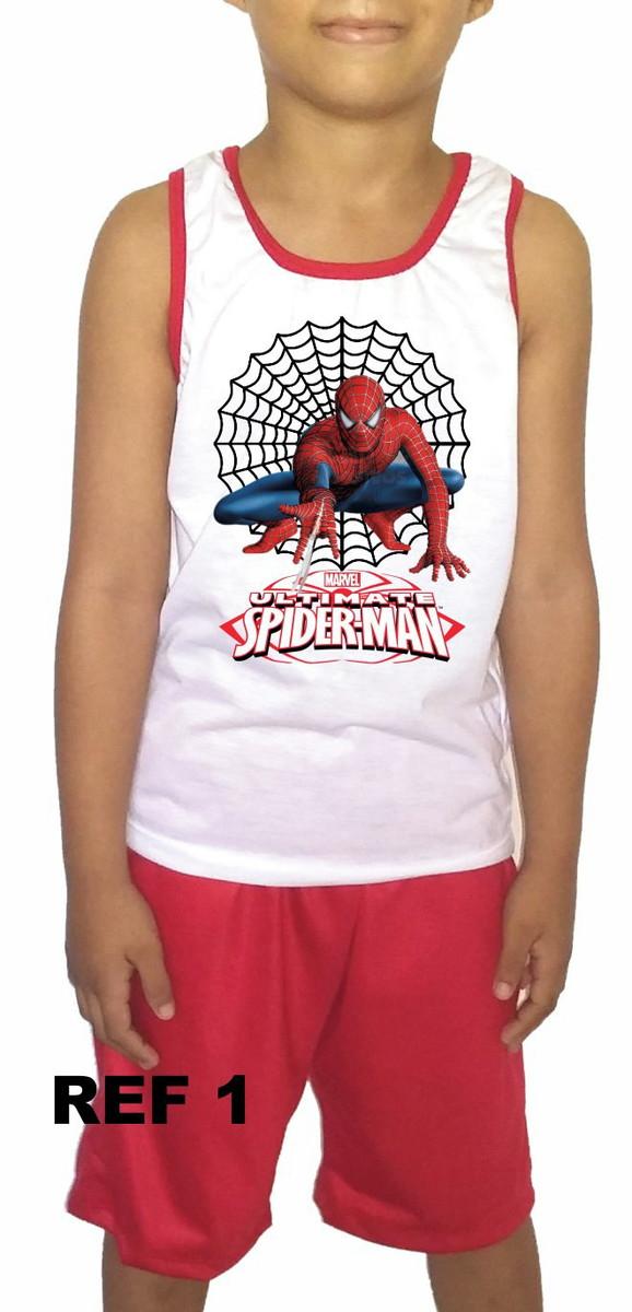 ec70d1188 Conjunto pijama infantil personalizado Homem Aranha no Elo7 ...