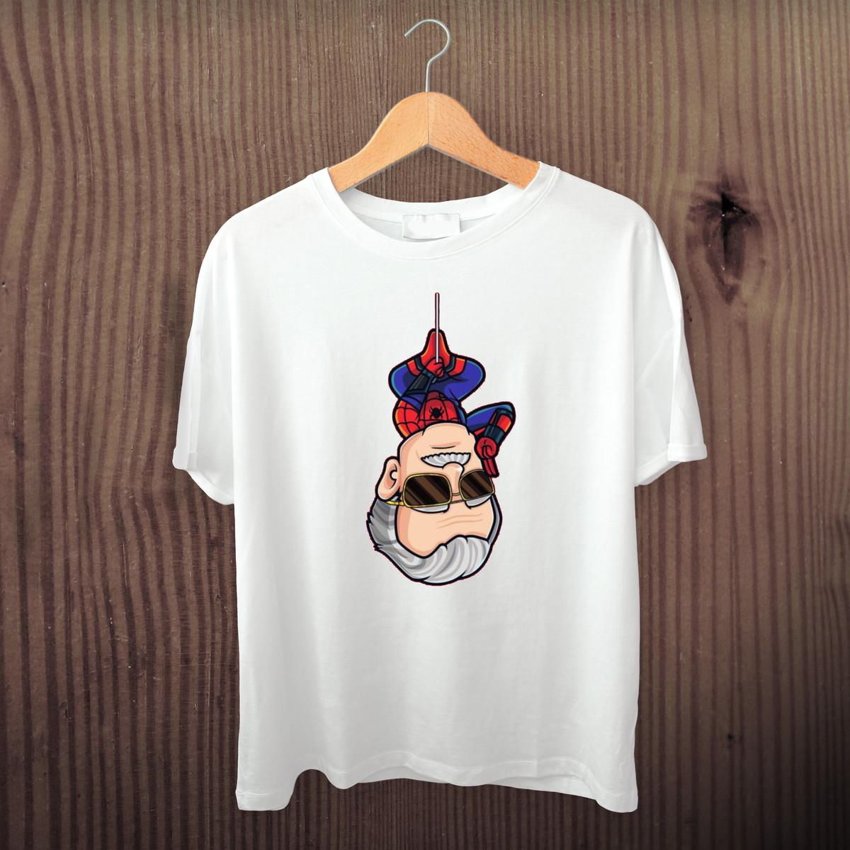 ba86e13d9c Camiseta do Stan Lee Aranha no Elo7