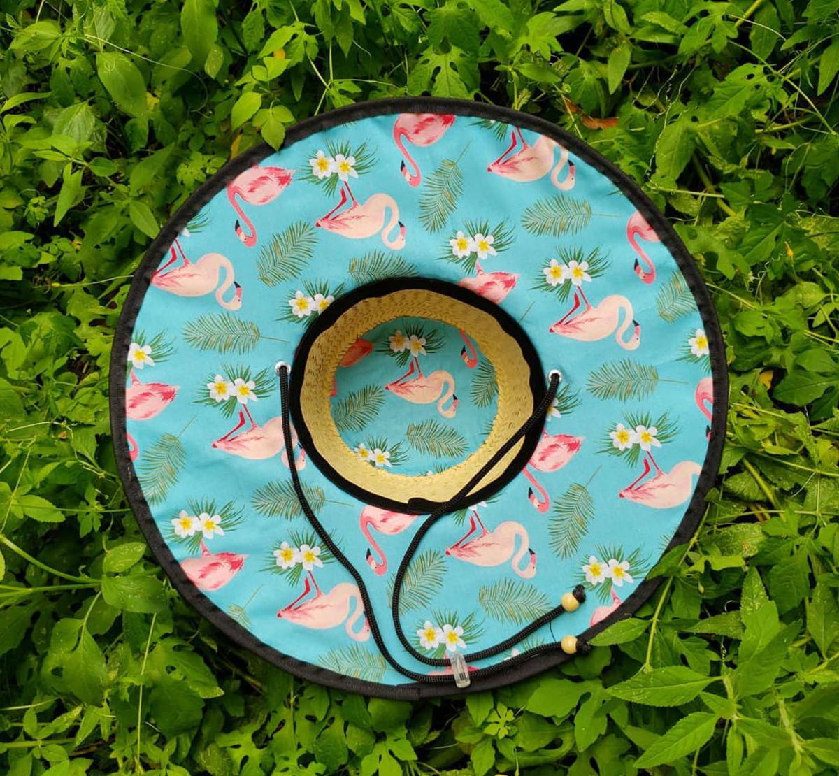 Chapéu de palha Flamingos no Elo7  d7ef5cbae6e