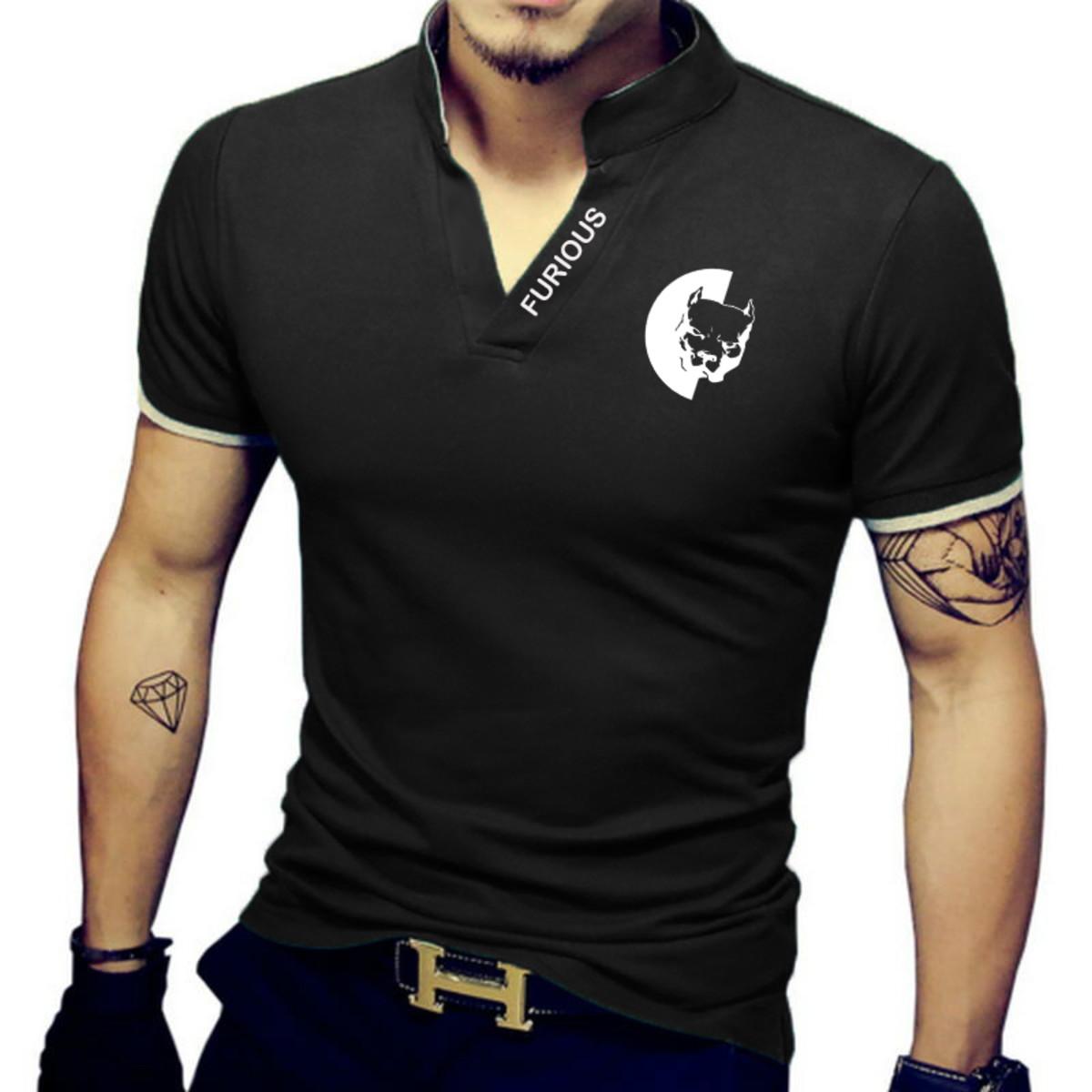 808fdbdc1c790 Camiseta pólo modelo exclusivo gola alta Pit Bull no Elo7
