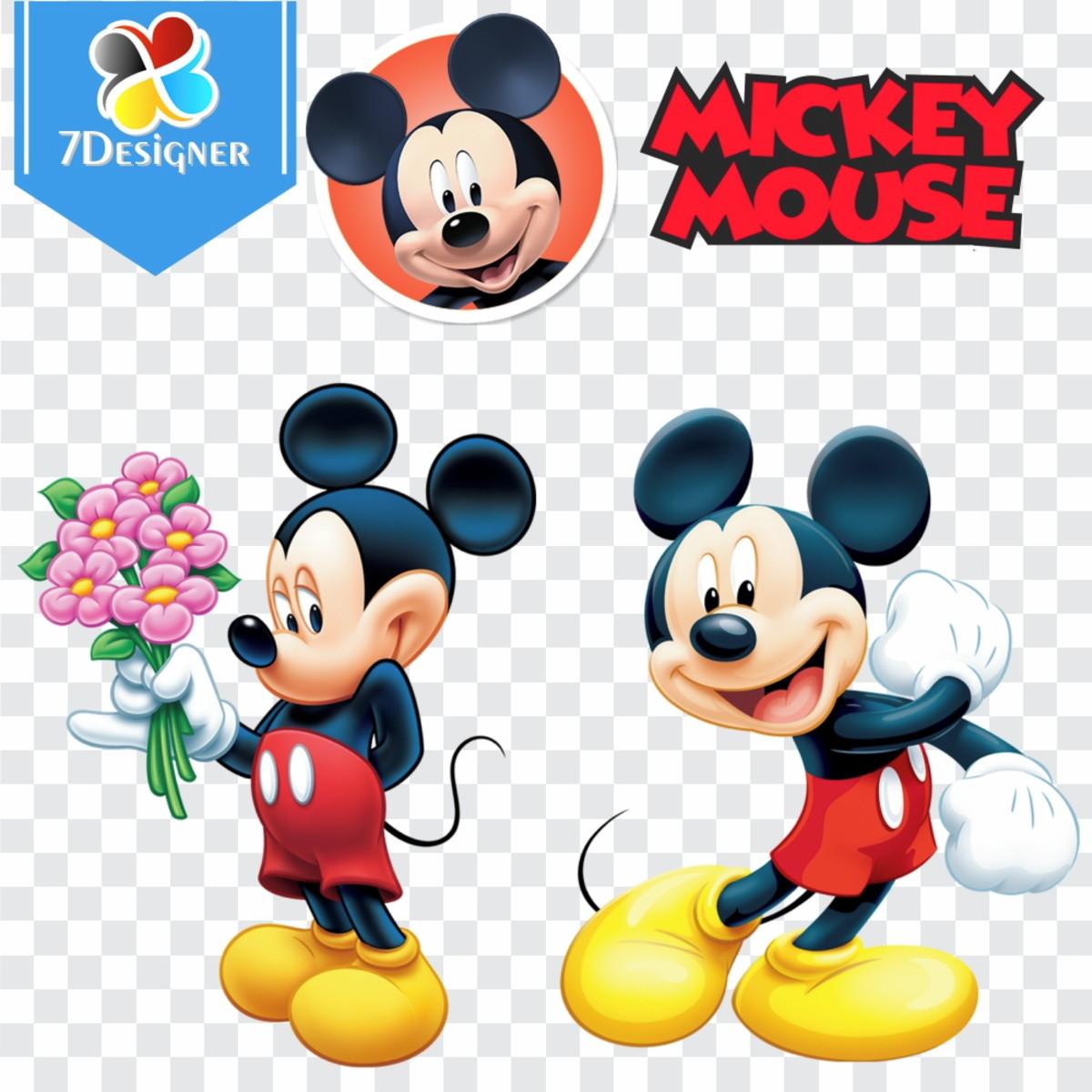 Kit Digital Mickey Mouse 95 Imagens Em Png No Elo7 7designer