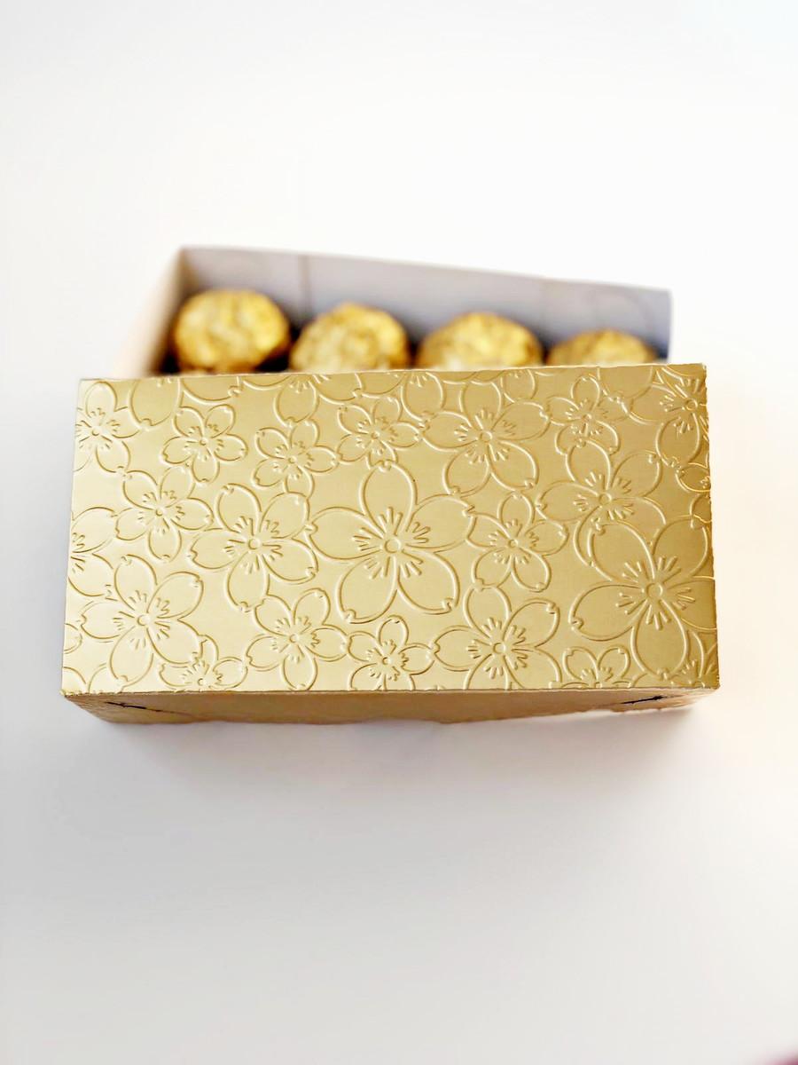 ee4520889 Caixa dourada dois bem casados ou 8 docinhos 7x4x14 cm no Elo7 | O ...