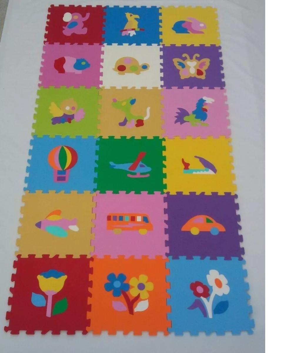 a05d499ff55 Tapete Eva Infantil Tatame Figuras Coloridas 18 Peças no Elo7 ...