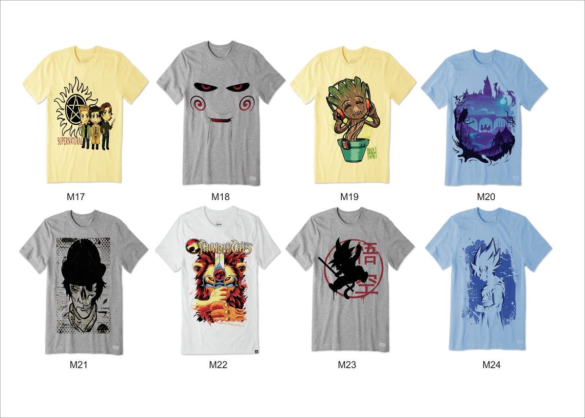 fb1e35c57f23e Kit Heróis também amam com 8 camisetas p  revender atacado no Elo7 ...
