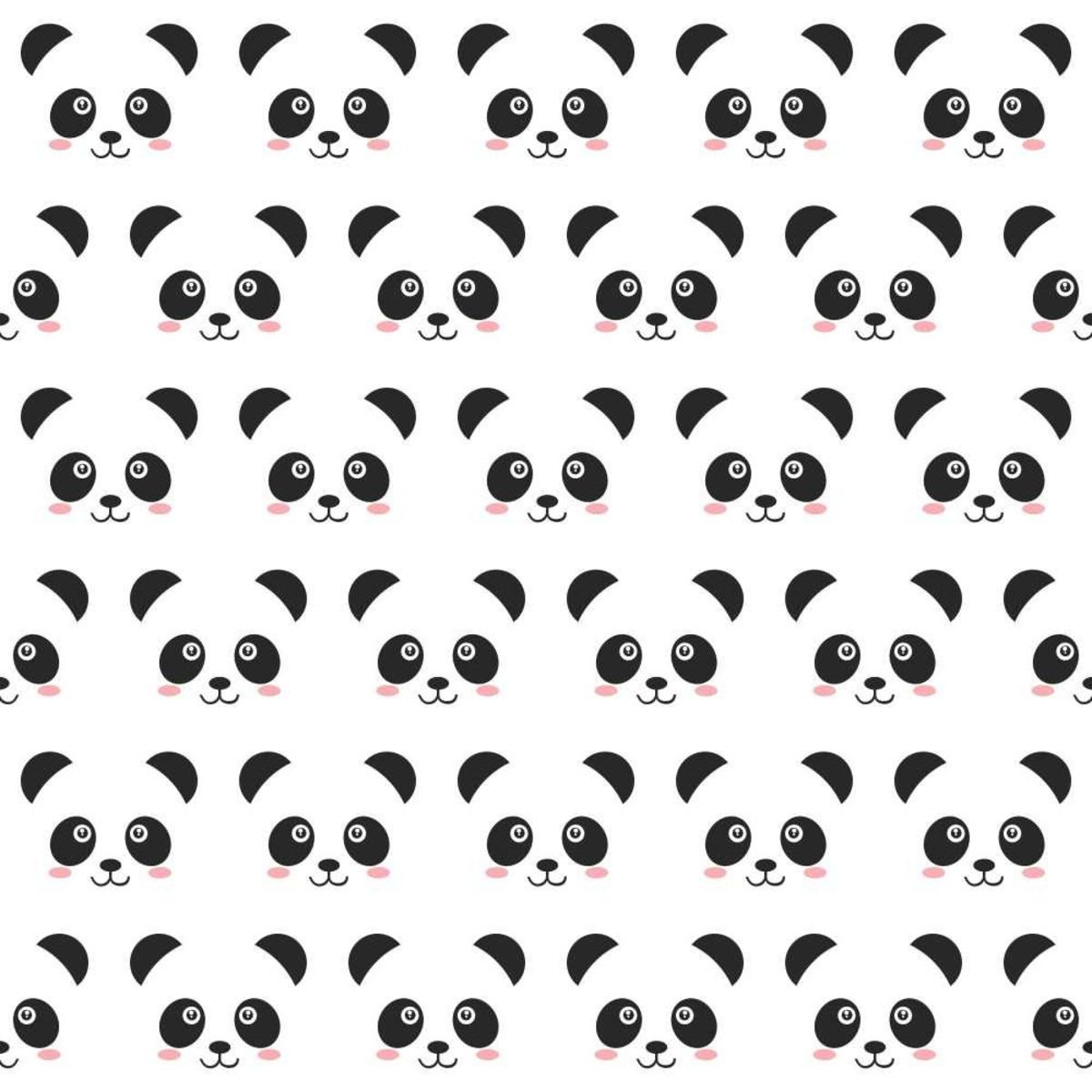 3c3676aaf2 Zoom · Papel de Parede Panda (60cm x 2