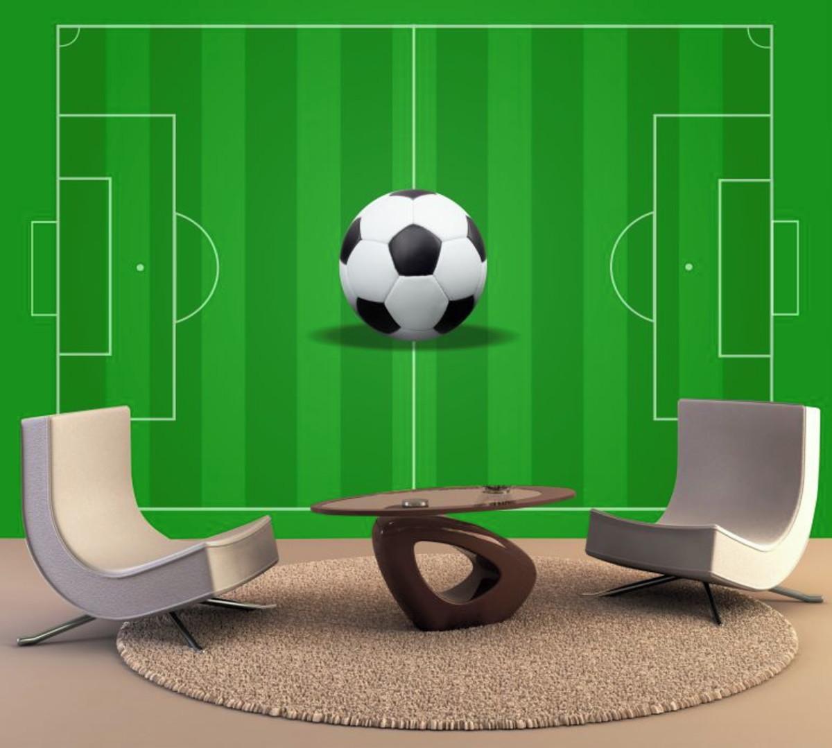 e27e61386 Papel de Parede Futebol Infantil Jogo Bola Esporte GG137 no Elo7 ...