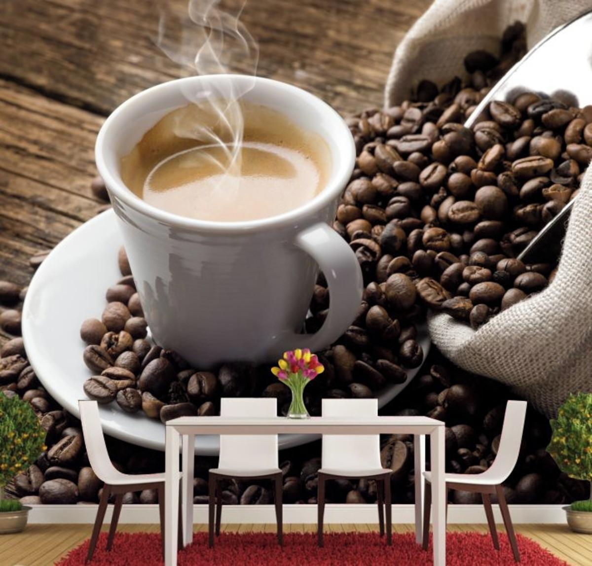 379c01c57 Papel De Parede Café Cozinha Espresso Grãos Bebidas GG139 no Elo7 ...
