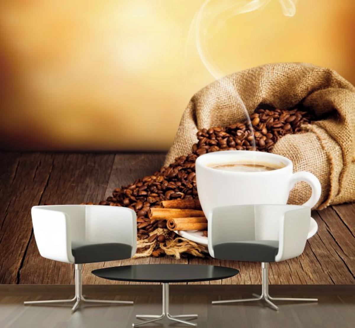 195d738f1 Papel De Parede Bebidas Café Espresso Cozinha Grãos GG140 no Elo7 ...