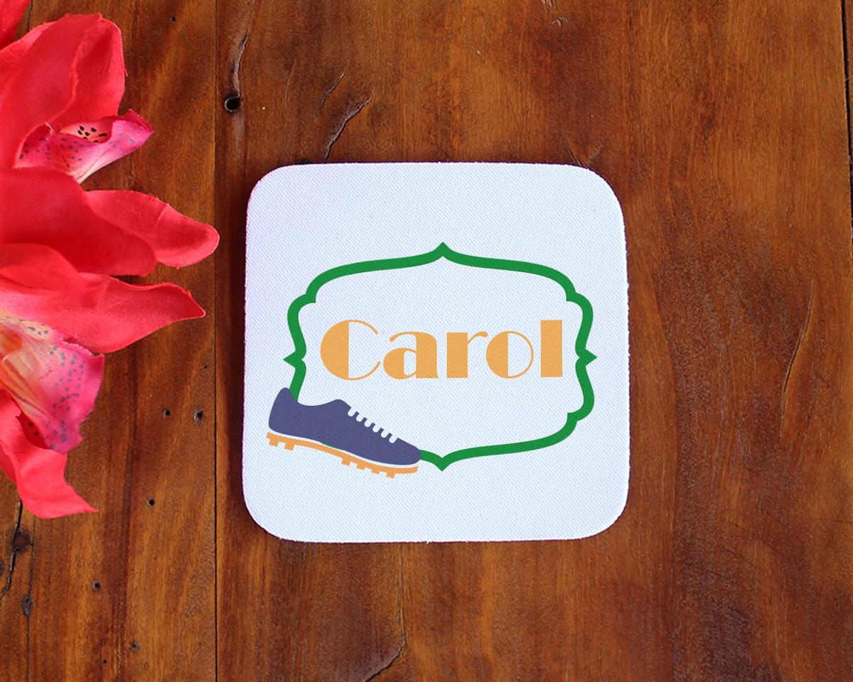Porta-copo de neoprene e tecido com texto - Brasil chuteira no Elo7 ... 0e27846a508f2