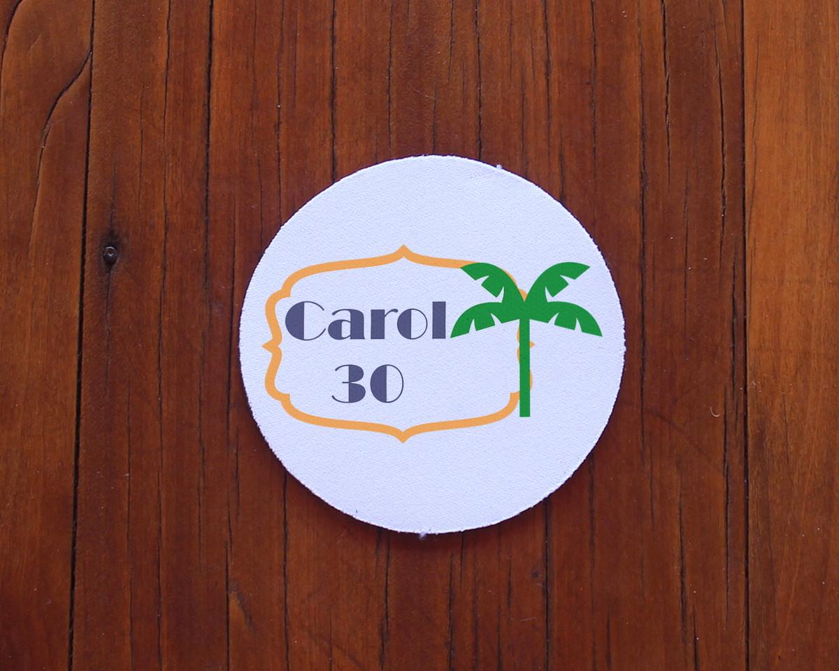 ebf0ad8f3bf Porta-copo de neoprene e tecido com texto - Brasil coqueiro no Elo7 ...