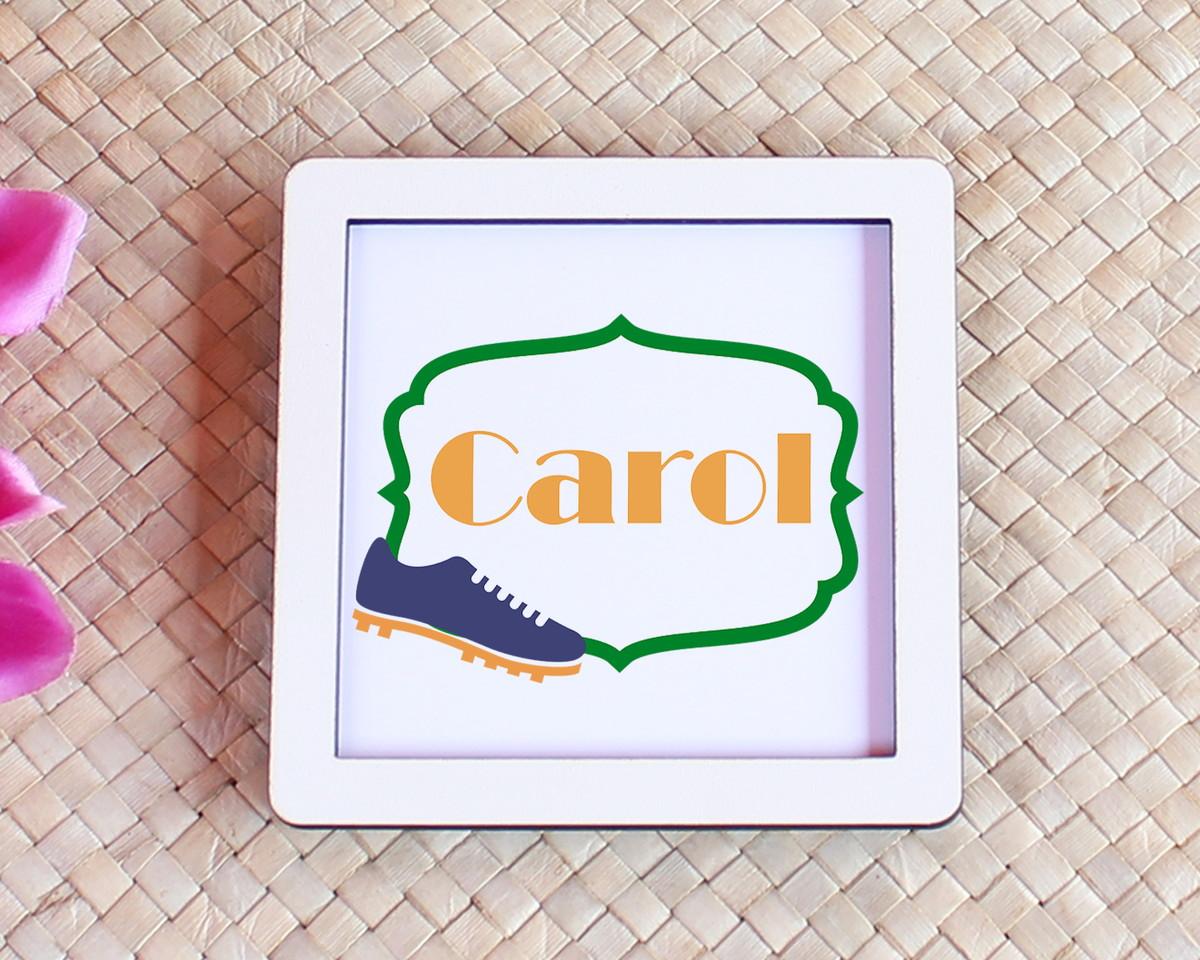 Placa quadrinho com impressão com texto - Brasil chuteira no Elo7 ... d118b0d4407b8